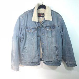 Old navy vintage Men's lined jean jacket size XL